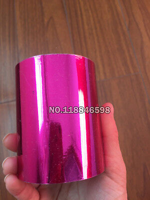 "Rose Red Foil Minc Laminator Roll A4 2Sheet 8x11""Laser Print Card Craft NeonPink"