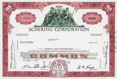 Schering Plough Corp. 1967 Kenilworth New Jersey MSD Merck Essex Historic Shares