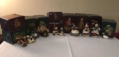 Boyd's Bears And Friends Lot Of 10 Holiday Ornaments Lot With Original Boxes
