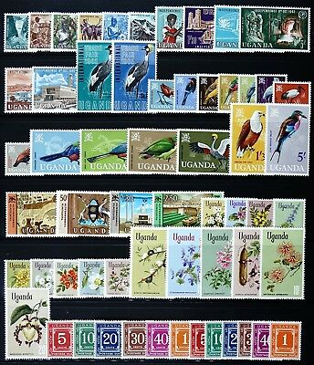 Uganda 1962 - 1969 Komplette Sammlung Postfrisch 73-119 + P 1-11 Collection MNH