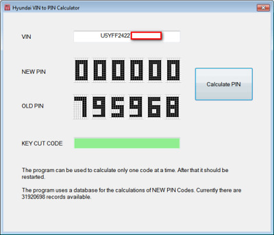 Hyundai & Kia | Immo Calculator program Vin to Pin code immo Pin from Vin