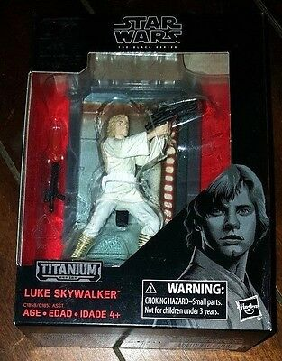 NIP 40th Star Wars Black Series Titanium Series: #3 LUKE SKYWALKER Action Figure
