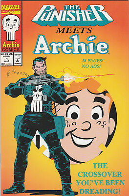 Punisher Meets Archie #1 VF- 1994 Archie Marvel Comics Die-Cut cover