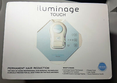 Iluminage TOUCH Permanent Hair Remover - US plug, UK adapter included