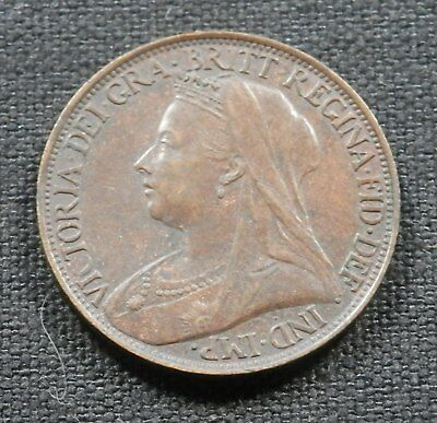 Great Britain (Uk), High Grade Queen Victoria Coin, 1 Farthing 1901