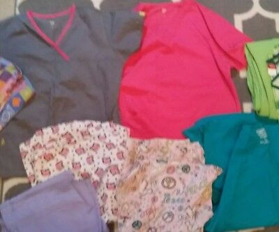 womens scurbs size med & large wonderwinks dickes one love hq tops & bottoms lot