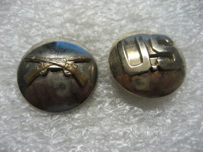 .US Army Collar Disc Infantry,set,1940s