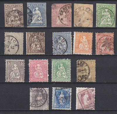 Switzerland - lot old - used and MH