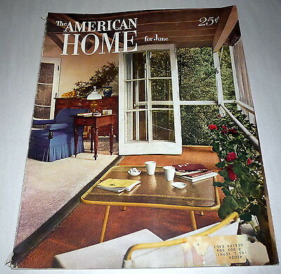 The American Home Magazine June 1950 House Floor plans Gardening Mid Century