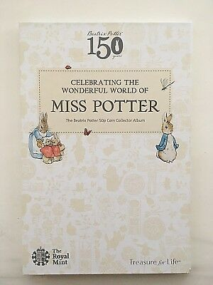 Genuine Royal Mint 2016 Beatrix Potter 50p collectors album only