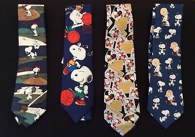 Snoopy Collection of Four Men's Neckties - Snoopy Ties NEVER WORN NEW
