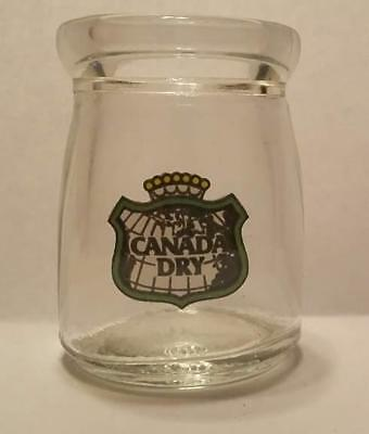 """Canada Dry Ginger Ale 1/2"""" oz. Glass Coffee Creamer Bottle 1 5/8"""" Tall"""
