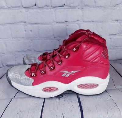 8fbad184dfc Reebok Question 3 Basketball Shoes Hot Pink and Silver Glitter Rare Color  Size 8