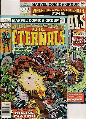 110 COMICS back to 70's w/ Eternals #8-12, mostly nice to high grade.
