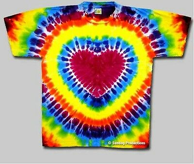 Heart Tie Dye Shirt - Size Large New, never been worn!! Won't fade or bleed!!