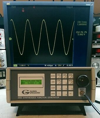GLOBAL SPECIALTIES 2003 Synthesized Function Generator (HP, Agilent)