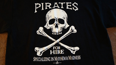 St. Thomas Virgin Islands, Pirates For Hire, Large Mens T-Shirt