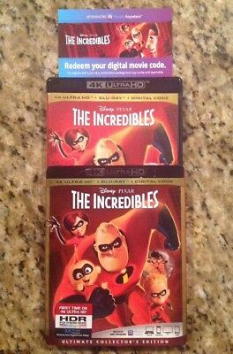 Disney The Incredibles 4K Ultra Hd Blu Ray 3 Disc Set + Slipcover Sleeve Buy It