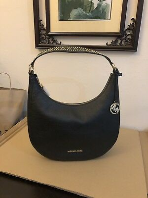 60065a740b96 MICHAEL KORS KARSON Top Zip Pebbled Leather Lg. Shoulder Hobo Bag ...