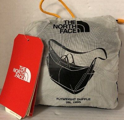 The North Face Flyweight Duffle Bag 28L New Style Black NWT Ideal 4 Carry On Gym