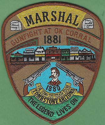 Tombstone Marshal Arizona Police Patch Ok Corral