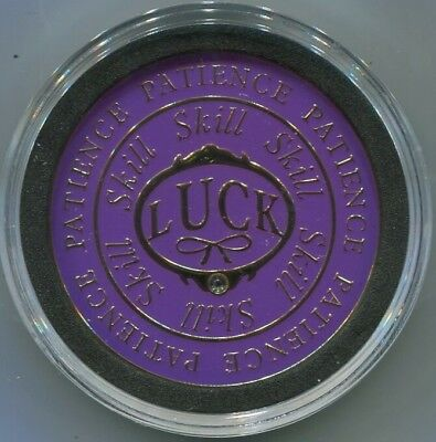 LUCK SKILL PATIENCE Spinner Poker Card Guard Cover Protector