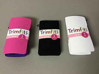 NWT Girl/'s Trimfit Lace Tights Size 8-10 Ivory 2 Pair #191R