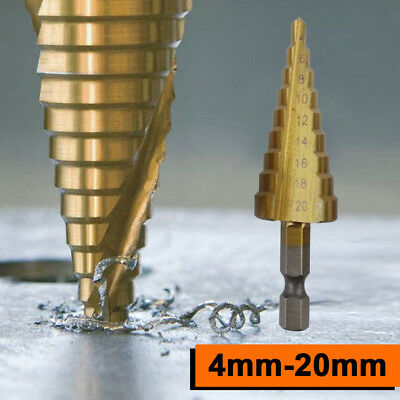 718E Alloy Cutter Drilling Tool 4-20mm Reamer Step Drill Triangle Power Tools