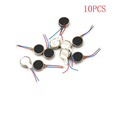 10x DC 3V 70mA 12000 RPM For Phone Coin Flat Vibrating Vibration Motor 1030 HICA