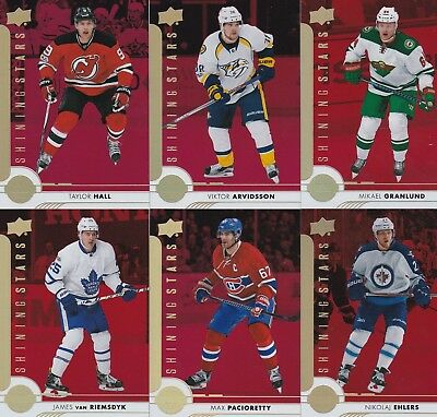 2017-18 Upper Deck Series 1 Lot Of 6 Red Shining Stars All Brand New