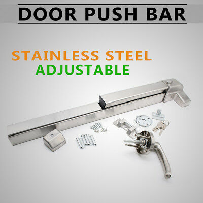 US Heavy Duty Commercial Rim Exit Device Door Push Bar Safety Panic Bar Hardware