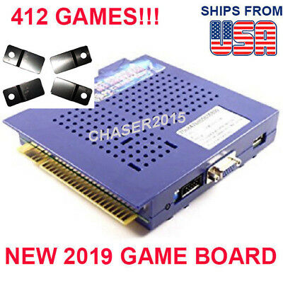 NEW 412 in 1 Game Elf JAMMA Arcade Board VGA VERTICAL Monitor US SELLER