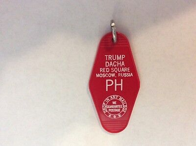 Trump Dacha (summer house) Moscow Russia motel hotel Key Ring Fob Tag Plastic