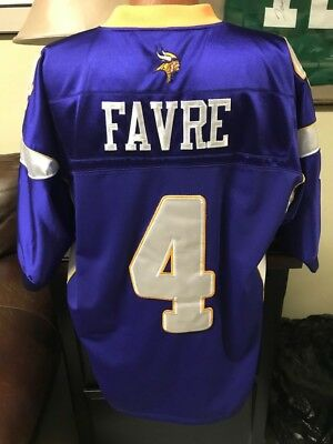 Reebok Authentic Minnesota Brett Favre Vikings NFL Jersey  4 Men s Size 54  Sewn 9655e23b1