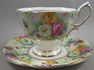 Vintage Royal Albert Rosetime Chintz Cup and Saucer - Teacup
