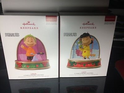 Peanuts Charlie Brown Storytellers Hallmark Ornament Linus Lucy Lot 2018