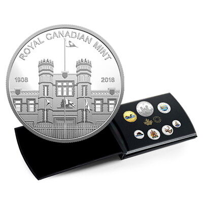 Canada 2018 Classic Coinage 7-Coin Mint Medallion Pure Silver Proof Set Color