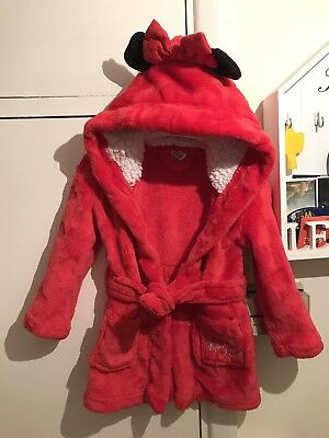 Minnie Mouse Dressing Gown 9-12 Months And Slippers PLEASE READ DESCRIPTION