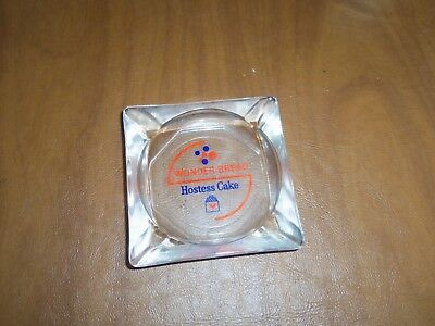 Vintage Hostess Wonder Bread Glass Ashtray