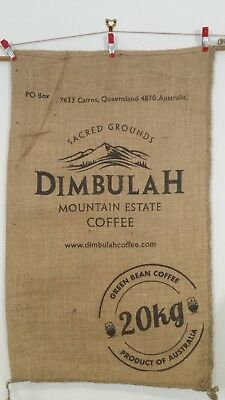 Australian Hessian Bag Dimbulah Mtn Coffee   Recycled Coffee Sack