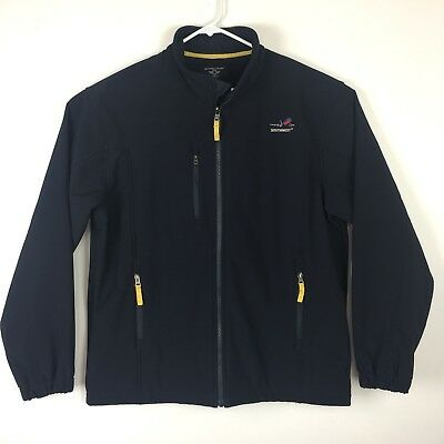 Southwest Airlines Soft Shell Fleece Lined Jacket Mens Large Aviation Aircraft