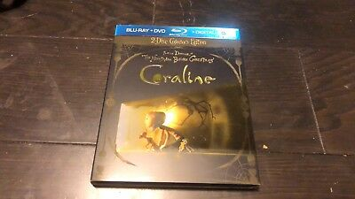 Coraline (Blu-ray Disc, 2009, 2-Disc Set, Collectors Edition Includes 3-D...