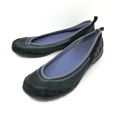 d7aefb5af2c9 Merrell Womens Black Leather And Suede Comfort Ballet Flats Size 9.5