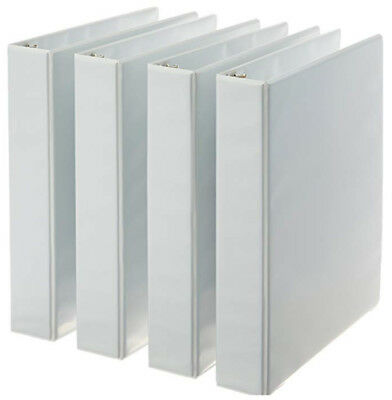 3-Ring Binder, 1.5 Inch Rings - 4-Pack (White) ***FREE FAST SHIPPING!!***