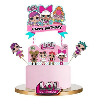 XL LOL SURPRISE DOLL CUPCAKE CAKE TOPPER party favors balloon SUPPLIES SQUISHY
