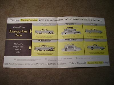 Vintage Original 1960 Plymouth Torsion-Aire Ride Dealer Sales Brochure