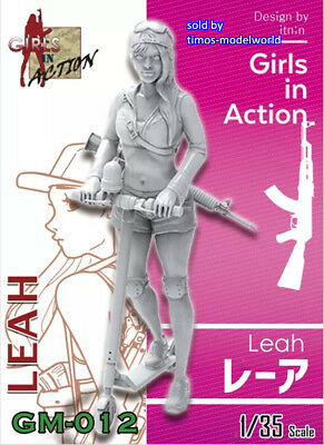ZLPLA Genuine 1/35 Resin Figure Leah Girls in Action Assembly Model GM-012