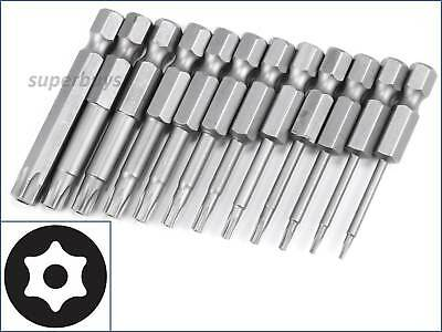 12pcs T5 - T40 Security Torx Hex Bit Secure Headed Tamper Proof Drill Tool Set