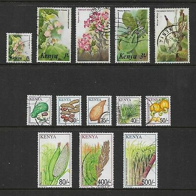 KENYA 1983 Flowers, 2001 Crops, part sets, used