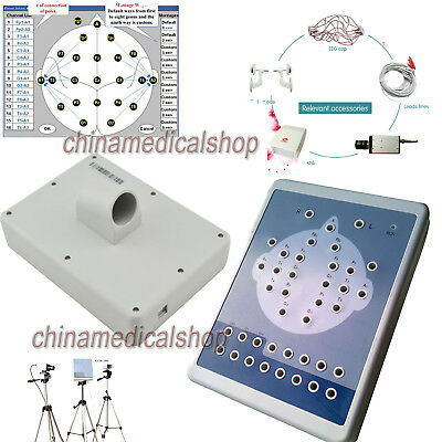 Digital 16 Channel EEG machine Mapping system 2 tripods Brain electric KT88 + SW